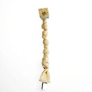 Idea original para no perder el chupete. Realizado con tela de algodón.