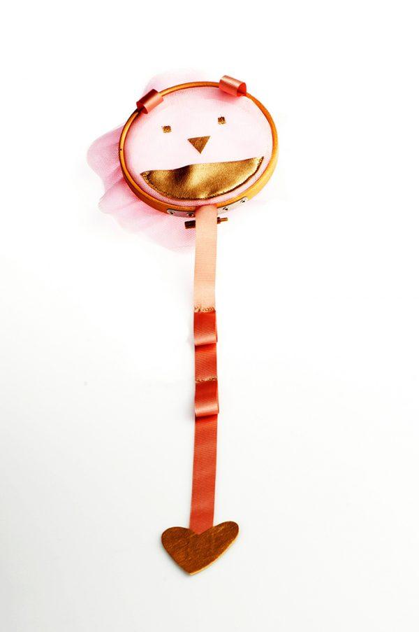 organizador de clips de pelo con forma de pantera rosa