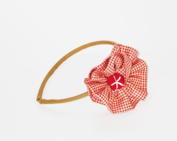 Diadema con flor en colores vintage