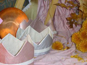 Coronas metalizadas en plata y rosa