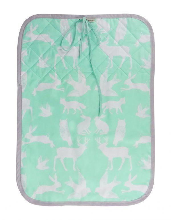 Cambiador realizado en tela de algodón orgánico con rizo de toalla y plástico de fácil limpieza
