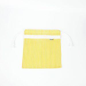 Una bolsa de tejido sencillo pero robusto